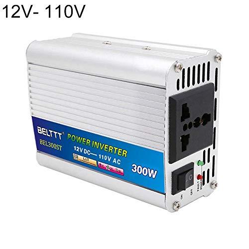 Fancylande Spannungswandler 300W Wechselrichter/Stromwandler DC 12 V / 24 V auf AC 110/220 V Inverter inkl. Kfz Zigarettenanzünder Stecker for Laptop, Phone, iPad, Tablet, Camera,etc Etc-inverter