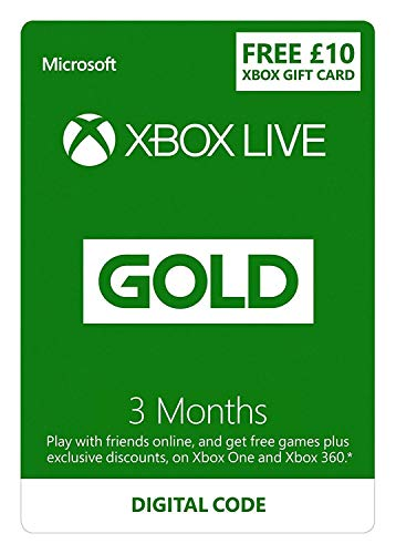 Xbox Live 3 Month Gold Membership + £10 FREE Credit | Xbox Live Download Code
