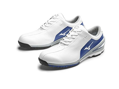 Mizuno 2017 NEXLITE SL Ultra-Light Spikeless Waterproof Mens Golf Shoes - White/Blue 8.5UK