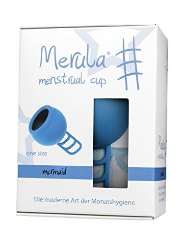 Merula Cup mermaid (blau) Menstruationstasse aus medizinischem Silikon
