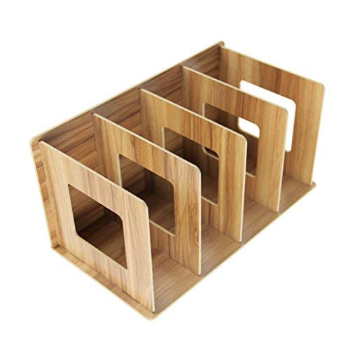 Aufbewahrungsregal, DIY, für Schreibtisch-Organizer, Regal, Schreibtisch-Organizer aus Holz, Aufbewahrungsboxen, Bücherregal, für Büro, Büro, Studenten, Schlafzimmer