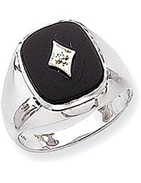14 k White Gold AA Diamant Herrenring