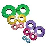 12-tlg. Pom Pom Maker Set mit Verschiedenen Größen von Curtzy - 9, 7, 5.5, 4.5, 3.5, 2.5cm Bommel Maker - DIY Plüschige Pom Poms für Dekorationen, Girlanden, Charms und Mehr - Einfach zu Verwenden