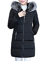 Elecenty Dicker Winterjacke,Down Lammy Jacke Lange Mantel Outwear Damen  Wintermantel Daunenjacke Frauen Winter Warm a855ab8ac8