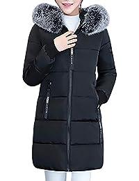 Elecenty Dicker Winterjacke,Down Lammy Jacke Lange Mantel Outwear Damen  Wintermantel Daunenjacke Frauen Winter Warm fa4f17834e