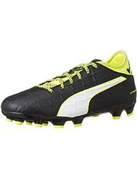 best service 6dae3 91296 Puma Football Boots Boys Evotouch 3 AG JR Black Green UK1 - UK5.5
