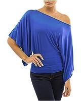 Damen T Shirt Blusen Ein Schulter Shirt Fledermaus Ärmel kurzarm Frauen Oberteile