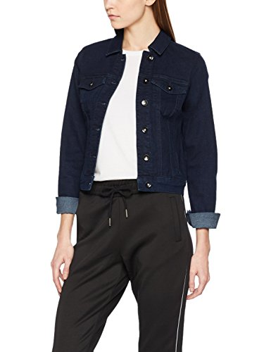 VERO MODA Damen Jeansjacke Vmhot Soya LS Denim Jacket MIX Noos, Blau (Dark Blue Denim), 40 (Herstellergröße: L)