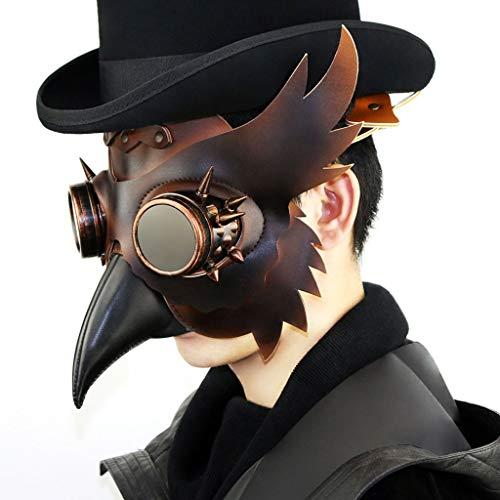 Doktor Evil Kostüm - Punk Maske, Pest Doktor Maske Halloween
