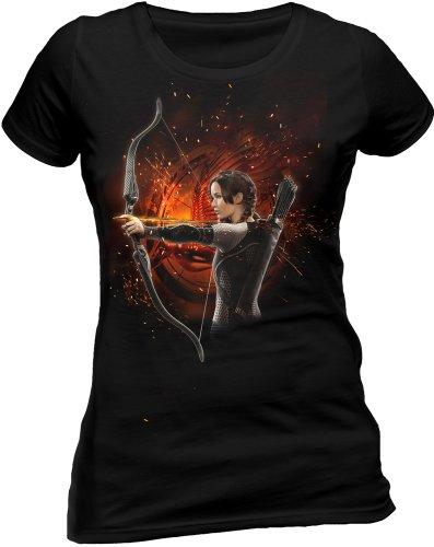 The Hunger Games: Catching Fire - T-Shirt - Manches Courtes Femme noir - Noir