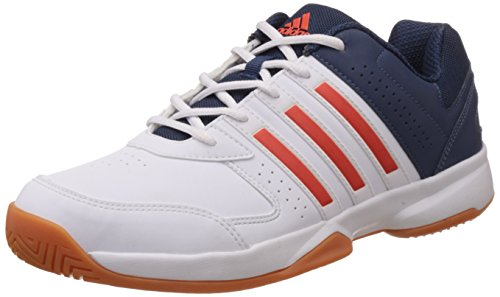 adidas Men's Acosta IN White, Red and Blue Volleyball Shoes - 7 UK
