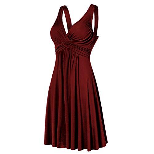 Das Beste Muttertagsgeschenk !!! Womens Sommerkleid, Pondkoo Sexy Bohemian Solid Sleeveless...