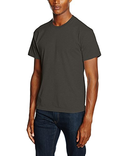 Fruit of the Loom Herren T-Shirt SS021M Grau - Grey (Light Graphite)