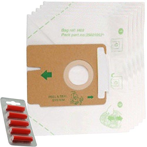spares2go H69Staub Staubbeutel für Hoover FV/tfv Staubsauger 5 Dust Bags + 5 Fresheners - Vac-air