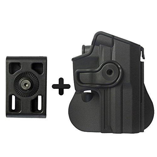 Price comparison product image IMI Defense Z1140 Interchangeable Paddle / Belt - Roto Retention Concealed Carry Polymer Pistol Handgun Holster For Heckler & Koch H&K USP Full-Size (9mm / .40)