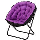 Eeayyygch Einfache und kreative Klappstühle, tragbare Lounge-Sessel, Lazy Couches, Lounge-Sessel, Farbe: Rot, violett,