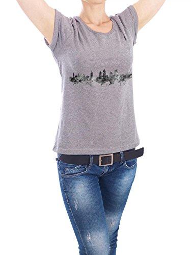 """Design T-Shirt Frauen Earth Positive """"Norwich England"""" - stylisches Shirt Städte Reise Architektur von Michael Tompsett Grau"""