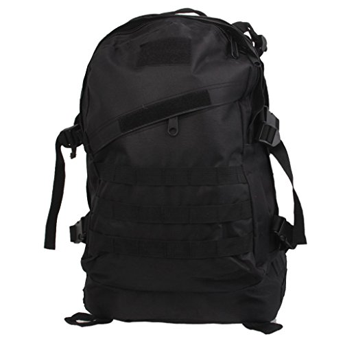 Imported 3D 40L Waterproof Tactical Military Backpack School Hiking Travel Bag Black
