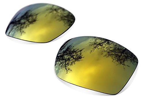 sunglasses restorer Kompatibel Ersatzgläser für Oakley Ten X, Gold 24K Polarisierte