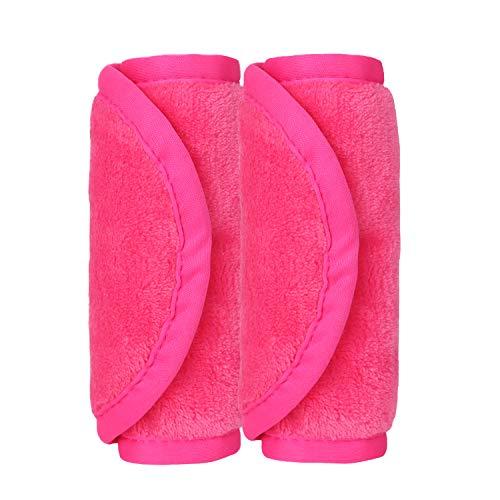 Lukovee Make-Up Entferner Tuch , 2er Set Abschminktücher Haut Weich und Angenehm Mikrofaser Tuch Entfernen Gesicht Make-up Sauber --17cm x 40cm ( Rosenrot)