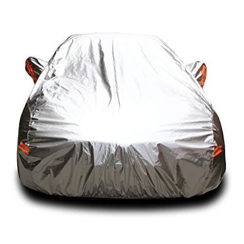 Couverture de voiture adapté à BMW X5 X3 X6 série Z4 M Série 1 Série 3 Série 5 Série 6 Série 7 Série Protection solaire Couverture de voiture Ombrage Isolation Demi-couverture Voiture Vêtements Argent