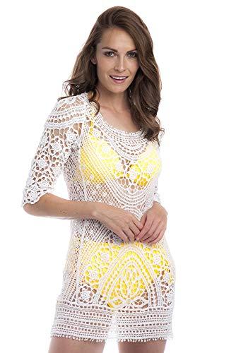SOL Y PLAYA - Caftán Punto Crochet Vestido Playa