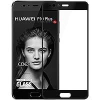 doupi 3D FullCover Premium 9H vetro temperato HD protezione dello schermo per Huawei P10 Plus Touch Screen Protector Tempered Glass Pellicola Protettiva, nero