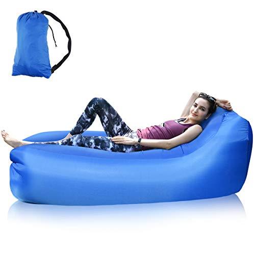 Osaloe Aufblasbares Sofa, Aktualisierung Version Air Lounger mit Einzelner Mund Wasserdichtes Anti-Luftleck Tragbares Air Sofa Couch für für den Innen- und Außenbereich.