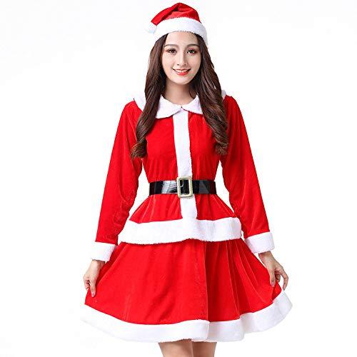 Kostüm Rentier Tanz - Olydmsky Weihnachtskostüm Damen,Weihnachten Kostüm cos Erwachsenen Tanz Kostüm Anzug Leistung
