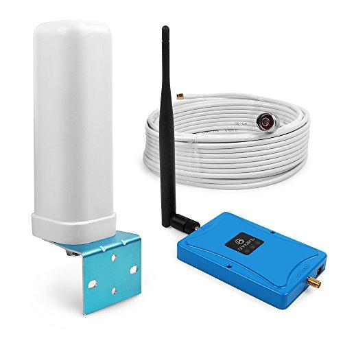 ANNTLENT Handy Signalverstärker 2600MHz (Band 7) Boost LTE 4G Signal Mobiler Repeater 70 dB mit 2 Antennen