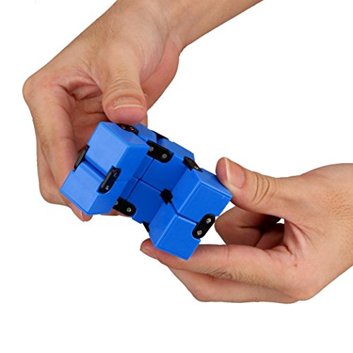 Funny EDC Infinity Cube Mini For Stress Relief Fidget Anti Anxiety Stress Toy , Mini second-order cube ,Longra® (Blue)