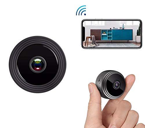 NBWE AZ Mini-Spionagekameras versteckt, 1080P HD kleine drahtlose Home-Bewegungserkennung, Remote-Ansicht für iPhone/Android-Handy/iPad/PC - Ipad Schützen Den Des Bildschirm Mini