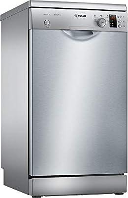 Bosch SPS25CI05E Independiente 9cubiertos A+ lavavajilla - Lavavajillas (Independiente, Acero inoxidable, Estrecho (45 cm), Acero inoxidable, Botones, Giratorio, 1,75 m)