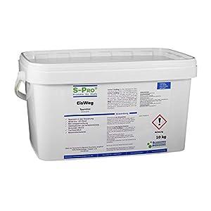 S-Pro EisWeg Auftau-Winterstreu-Granulat 10kg   konz. Enteiser-Streumittel als Streusalz-Alternative   tierfreundlich, pflanzen- & umweltschonend   schnelltauend, langanhaltend eis- und schneefrei