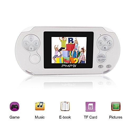 Rongyuxuan Consola de Juegos portátil, Consola de Juegos Retro de 3'con 566 Juegos, Sistema de 32 bits, Reproductor de...
