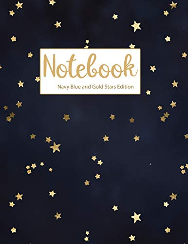 Notebook Navy Blue and Gold Stars Edition (Rock Party Star Birthday)