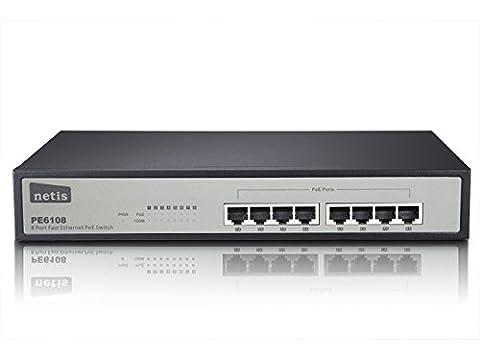 netis PE6108 Fast Ethernet PoE Switch (RJ45 8-Port, 100MB)