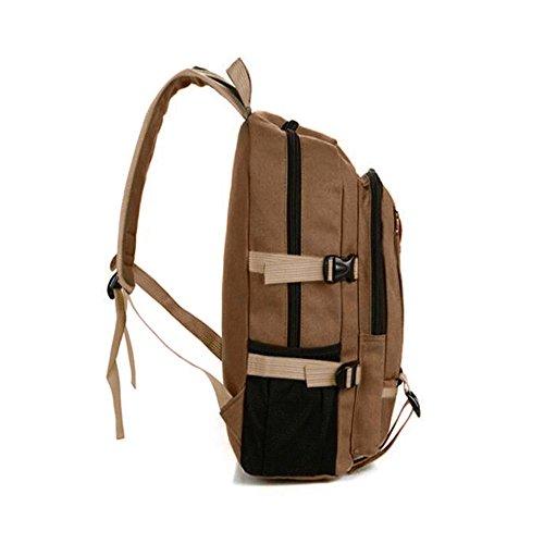 Hniunew Paket Sport Backpack Retro Vintage Reisetasche Aus Segeltuch Multi-Pocket Wandertasche Reittasche Fahrradrucksack Klettertasche Bergsteigenbeutel Outdoor-AktivitäTspaket Rucksack