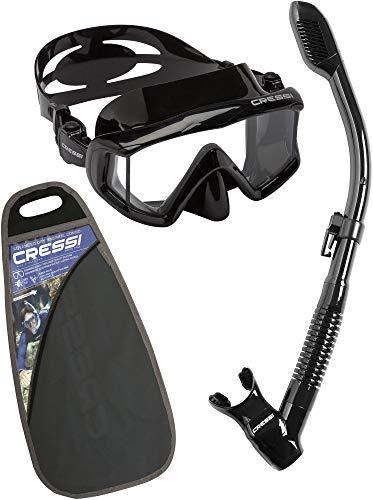 Cressi Unisex Pano 3 & Alpha Ultra Dry - Premium Schnorchelset