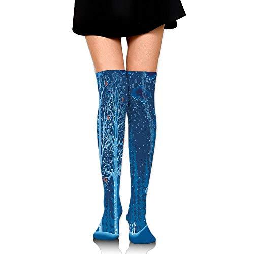 Famous Tourist Places Big Ben London UK British Monuments Women's Fashion Over The Knee High Socks (65cm) ()