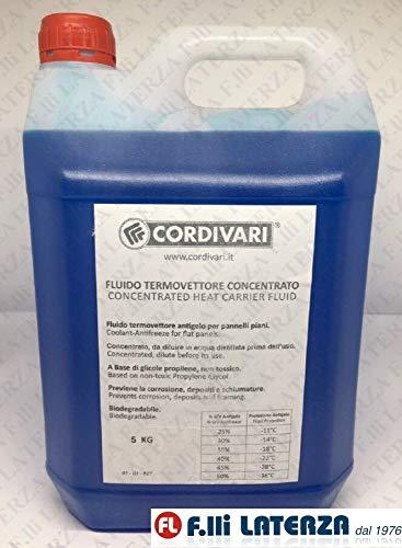 Cordivari fluido termovettore concentrato 5 kg. glicole impianti pannelli solari