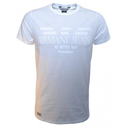 Armani Jeans -  T-shirt - Collo a U  - Maniche corte - Uomo bianco XL