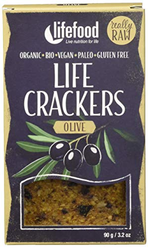 lifefood Life Crackers Olive, 2er Pack (2 x 90 g)