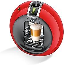 Delonghi Dolce Gusto Circolo - Máquina de café (Flow Stop, Expresso, 15 Bar), color rojo