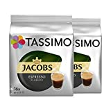 Tassimo Jacobs Espresso Classico, Kaffee, Kaffeekapsel, gemahlener Röstkaffee, 2 x 16 T-Discs