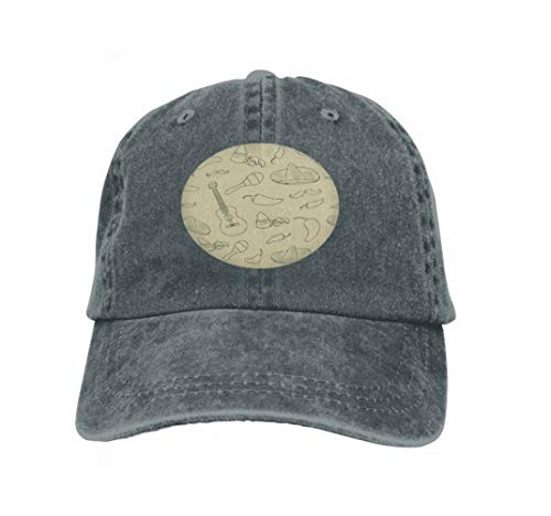 Xunulyn Unisex Trucker Hat Cap Cotton Adjustable Baseball Dad Hat Cinco de Mayo Mexican Culture Attributes Hand Drawn Pattern Carbon