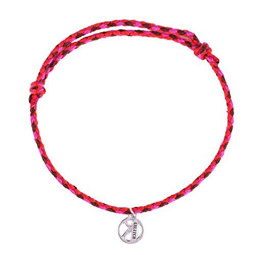 KELITCH Baumwolle Faden Freundschaft Armbänder Hand Gewebt Geflochten String Seil Armbänder Paare Liebhaber (Rot)