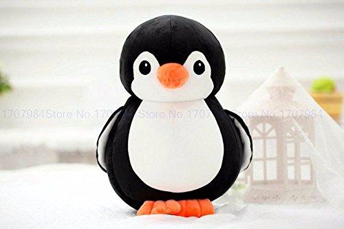 NB Phoenix Penguin Soft Toy 30cm, Cute Plush Kids Animal Toy (Black)