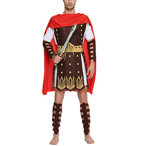 BESTOYARD Halloween Ancient Roman Gladiator Vestiti Ancient Roman Gladiator Costumi Costumi da Adulti Taglia XL