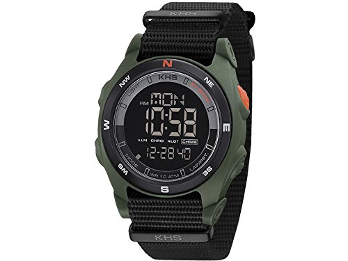 KHS Tactical Mens Watch Sentinel DC Olive | Nato Black Chronograph KHS.SEDCO.NB